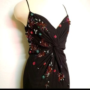 Sue Wong Nocturne Vintage Black Silk Beaded Dress
